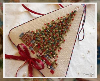 схема  вышивки елочки