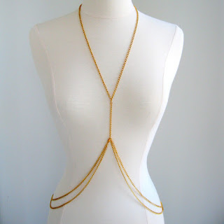 Body Chains over Kamar Band-Amazing-Double-Loop-Gold-Body-Chain-Body-Jewellery-Sexy-Body-Chain-Costume-Jewelry-Fashion-Silver-Body Designer online Shopping Store India