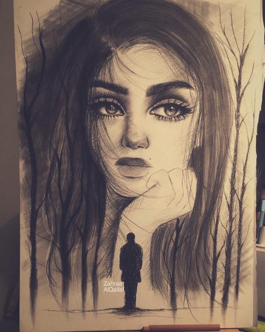 05-Zahraa-AlQallaf-Find-Escapism-in-Drawing-Portraits-www-designstack-co