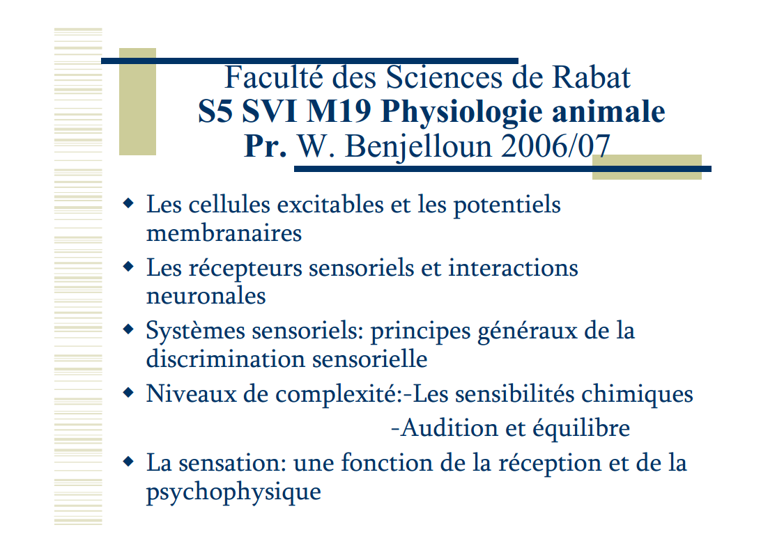 Cours complet Physiologie animale