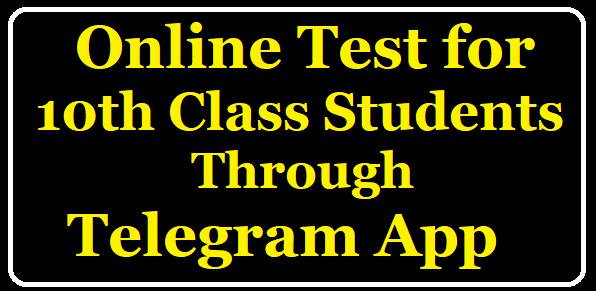 Online Tests to 10th Class Students through Telegram App /2020/05/online-tests-to-10th-class-CEEP-POLYCET-TSRJC-Students.html