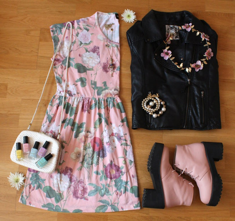 floral smock dress summer fashion flat lay from the high street