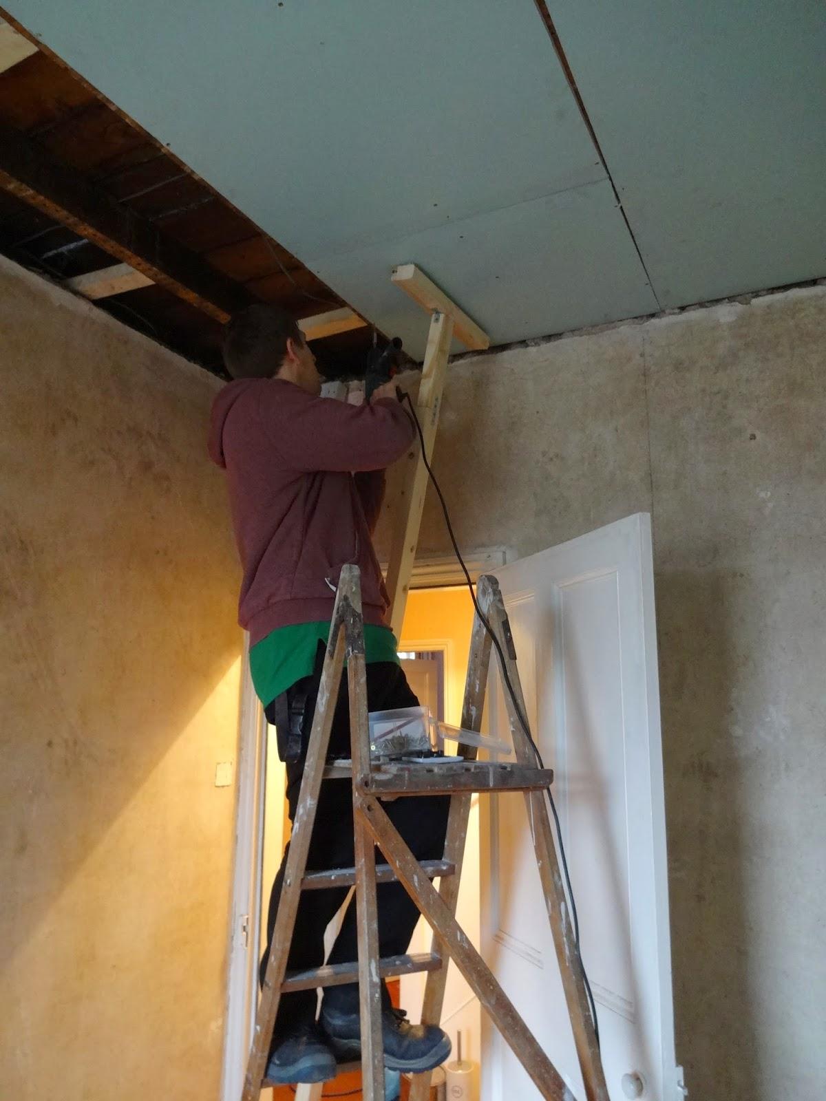Fitting Plasterboard in the Bathroom - Kezzabeth   DIY ...
