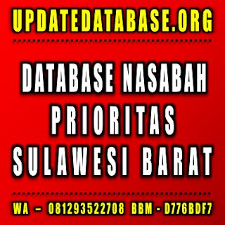Jual Database Nasabah Prioritas Sulawesi Barat