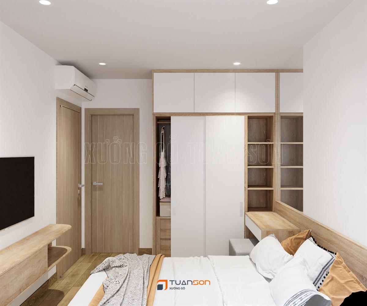 Thiết kế nội thất căn hộ 2PN+1 (65m2) S1.08-12 Vinhomes Ocean Park