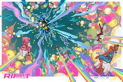 Fortnite: Rift Tour Screen Print by Yuko Shimizu x Mondo
