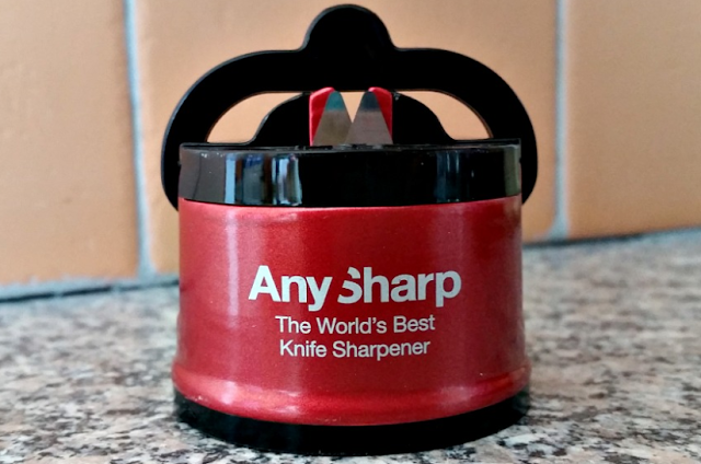 AnySharp Pro knife sharpener out of the packaging