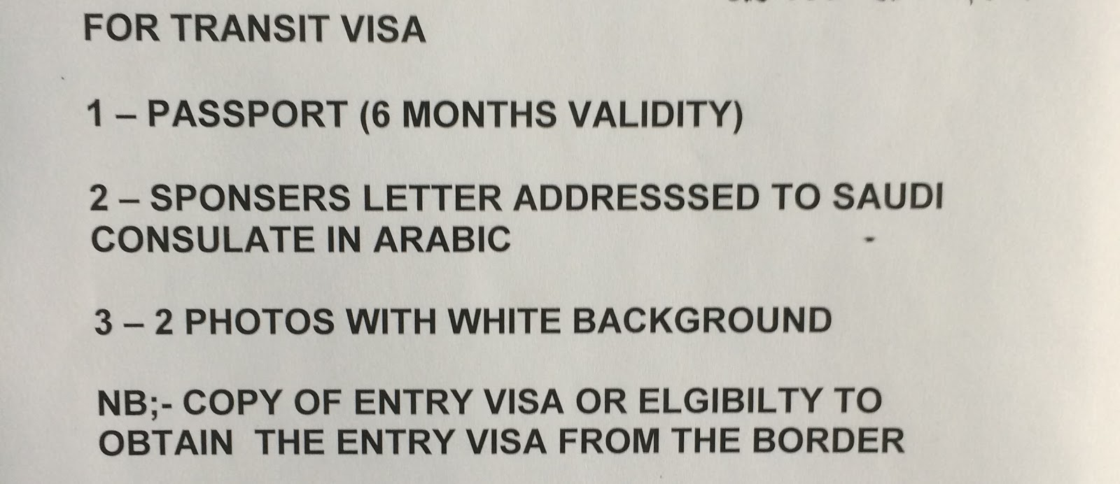 Skeptic in qatar saudi transit visa and the fee of course the photos that they refer to are passport sized photos i believe that the last item refers to proof that you have a visa to enter altavistaventures Image collections
