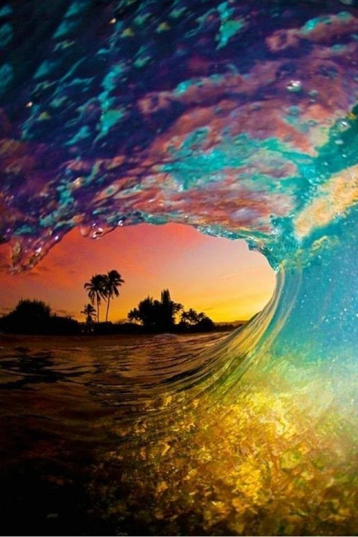 wallpaper iPhone, sfondi per smartphone, onda, oceano