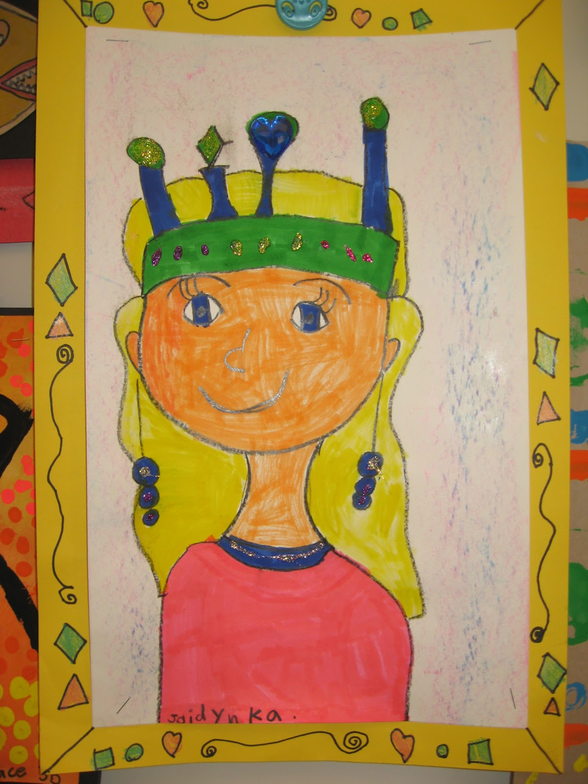 Jamestown Elementary Art Blog Kindergarten King And Queen