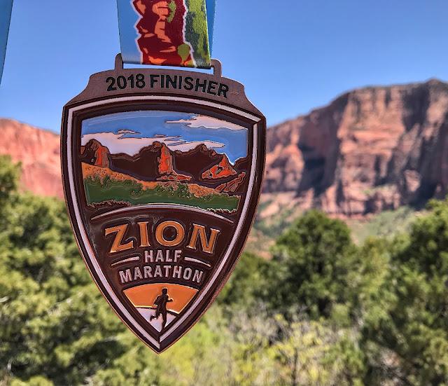 Zion Half Marathon medal 2018