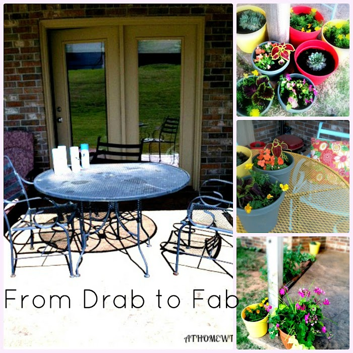 From Drab to Fab-A Patio Makeover