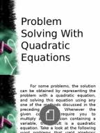 QUADRATIC EQUATION MATERIAL BY TEKO CLASSES