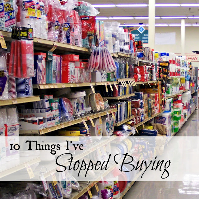 Ten things I've stopped buying.