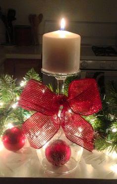 Bonitos adornos navideño con velas