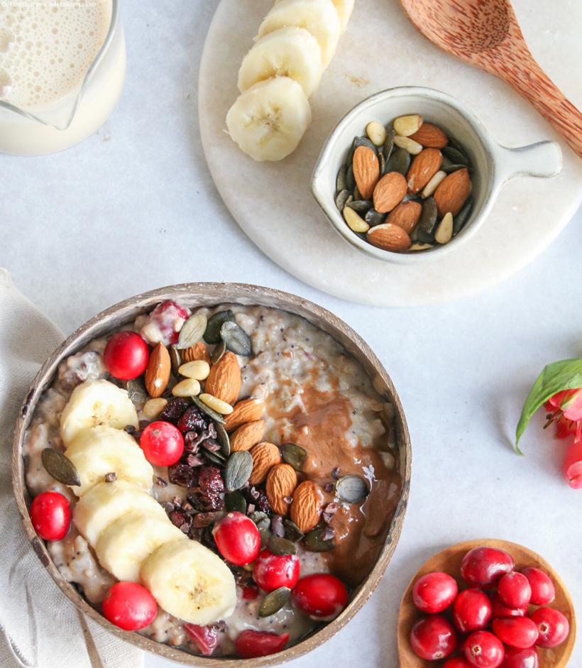 Zimt-Mohn-Porridge