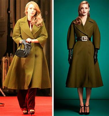 A incrivel história de Adeline, casaco verde da Gucci