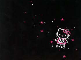 Hello kitty dark wallpaper