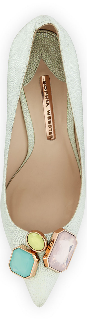 Sophia Webster Lola Gem Iridescent Embossed Pump