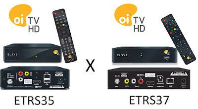Comparativo receptores Elsys ETRS35 ETRS37