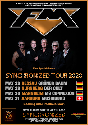 FM tour dates Germany Switzerland May 2020 poster
