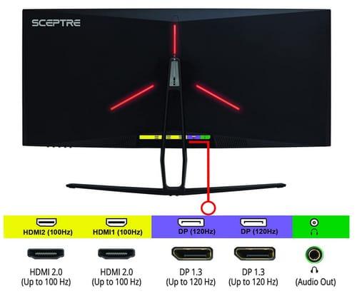 Sceptre C355B-QUN168 UltraWide Curved QHD Monitor