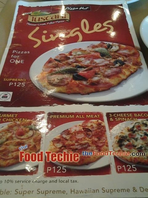 Pizza Hut SM Bicutan, Tuscani Singles is Really a Must-Try