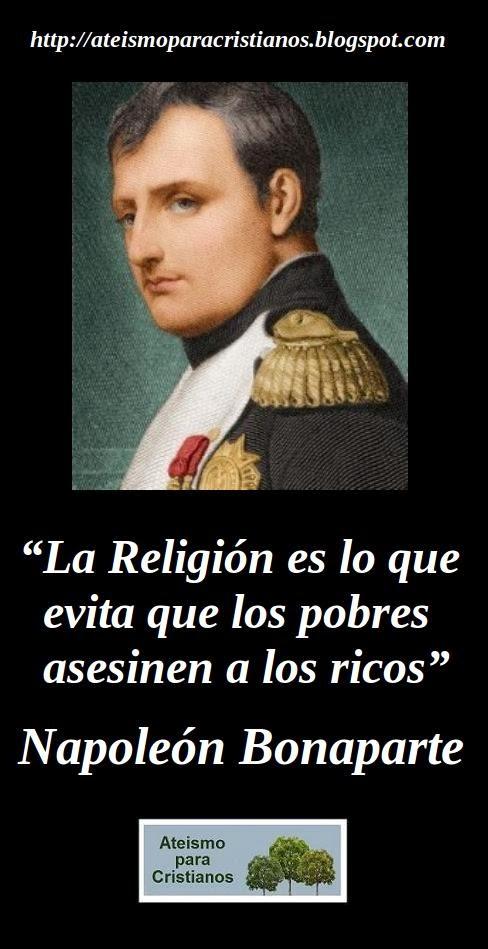 Ateismo Para Cristianos Frases Célebres Ateas Napoleón