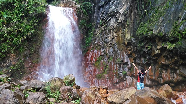 Near the cascade of Pulangbato Falls