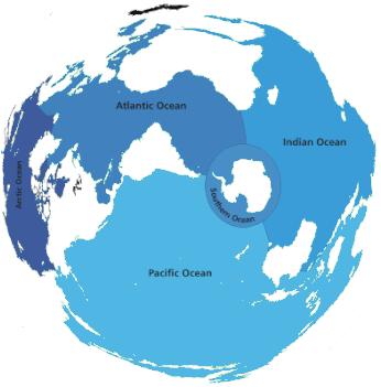 Karakteristik Samudera Hindia, Samudera Pasifik, Samudera Atlantik, & Samudera Arktik