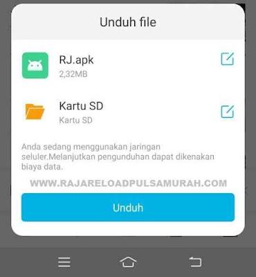 Download Apk RJ Mobile Topup Raja Reload Pulsa