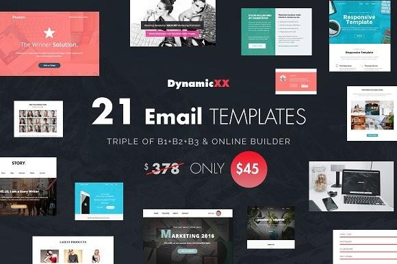 21 Email Templates Bundles