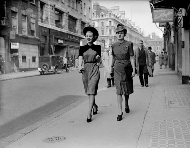 Women's London fashions, 14 May 1942 worldwartwo.filminspector.com