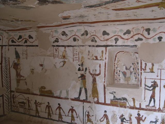 Paintings from the tomb of Sadosiris at Muzawaka (XV)