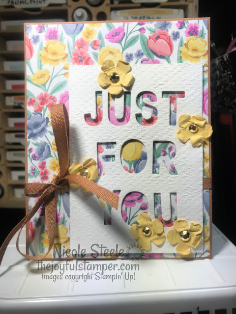 stampin' up!, patterned paper, letter dies, unique ways to use letter dies, paper crafts, stamping, handmade card, how to make cards, how to stamp, thinking of you card