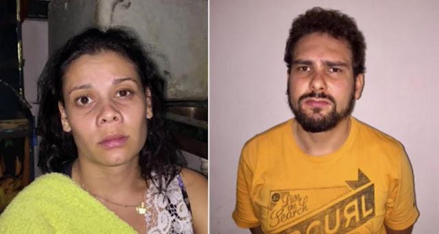 Casal apreendido - Divulgação