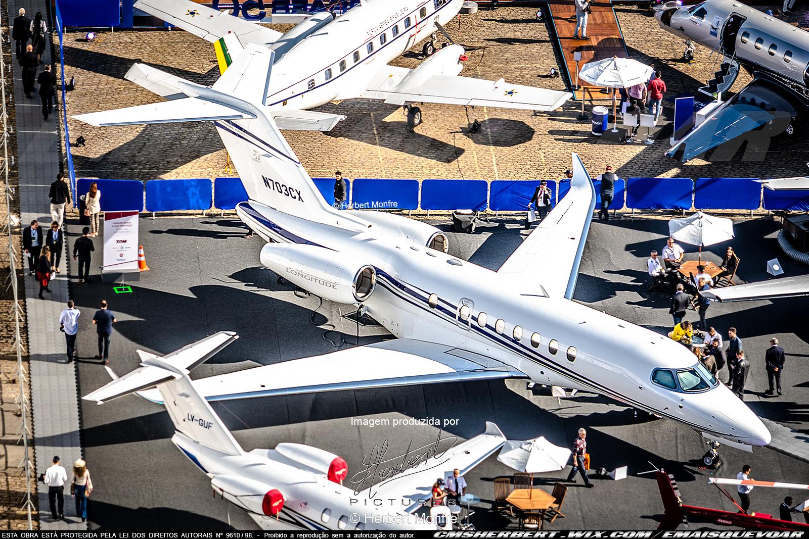 Jato executivo Citation Longitude recebe Certificação de Tipo FAA | Foto © Herbert Monfre - contrate o fotógrafo em: cmsherbert@hotmail.com | Publicado em: É MAIS QUE VOAR