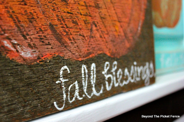 fall blessings, hand lettered, pumpkin sign, https://goo.gl/nISyuY