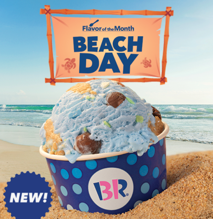 ice cream on beach day