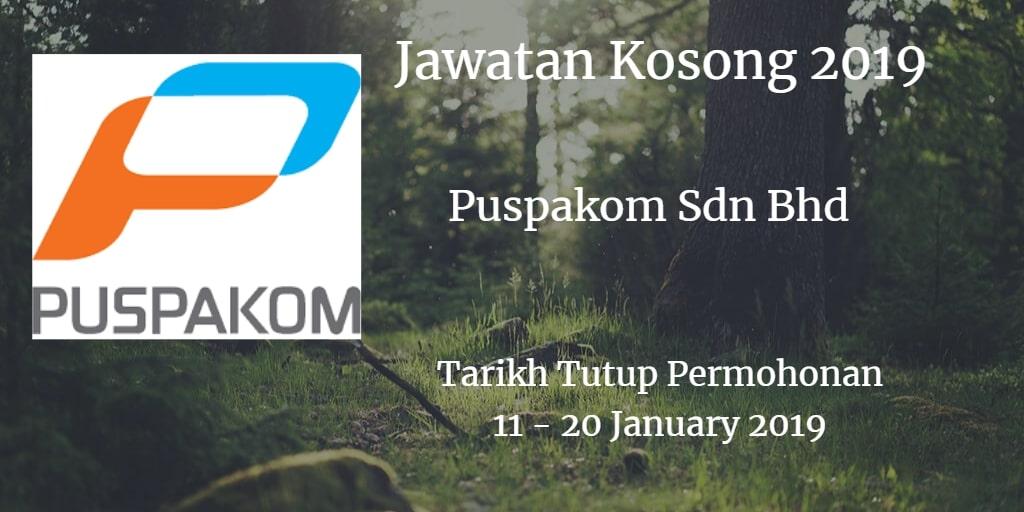 Jawatan Kosong Puspakom Sdn Bhd 11 - 20 January 2019
