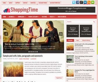 ShoppingTime Responsive Blogger Template