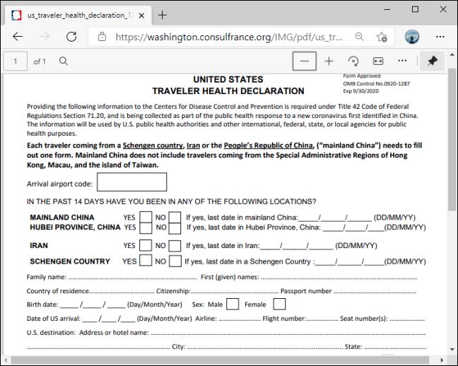 PDF بدون دعم التحرير في Microsoft Edge