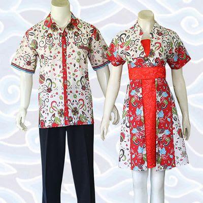 Busana Batik Kombinasi Brokat