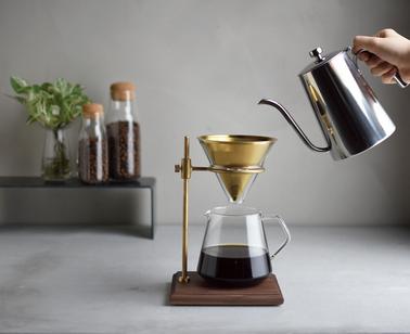 annelies design, webbutik, webshop, kaffe, kaffetillbehör, pour over kettle, vatten, kanna, bryggare, kinto, slow coffee, ställning,