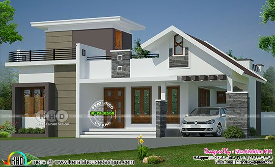 1132 sq-ft 2 bedroom single floor home mixed roof