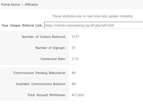 DomainKing affiliate program