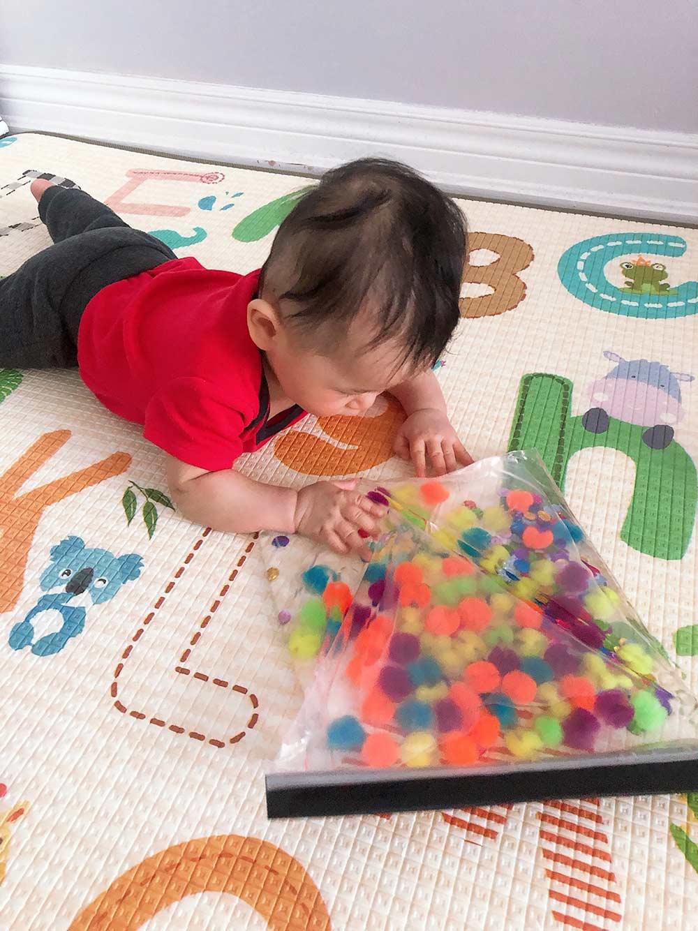 Easy Baby Sensory Toy DIY