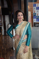 Tejaswi Madivada looks super cute in Saree at V care fund raising event COLORS ~  Exclusive 019.JPG