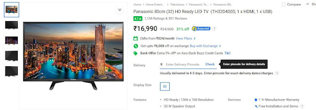 Panasonic 32 inches TH32D400D LED TV