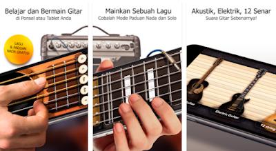 Aplikasi Terbaik Untuk Bermain Gitar di Hp Android